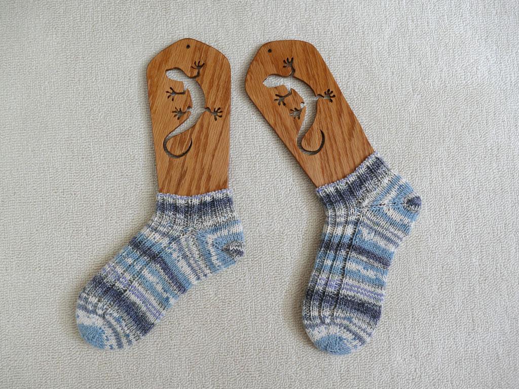 手編みの夏色くつした