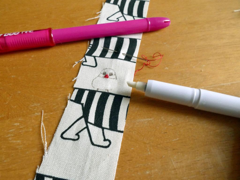 リサ・ラーソンのカットクロスで文鳥刺繍入りトートバッグ12