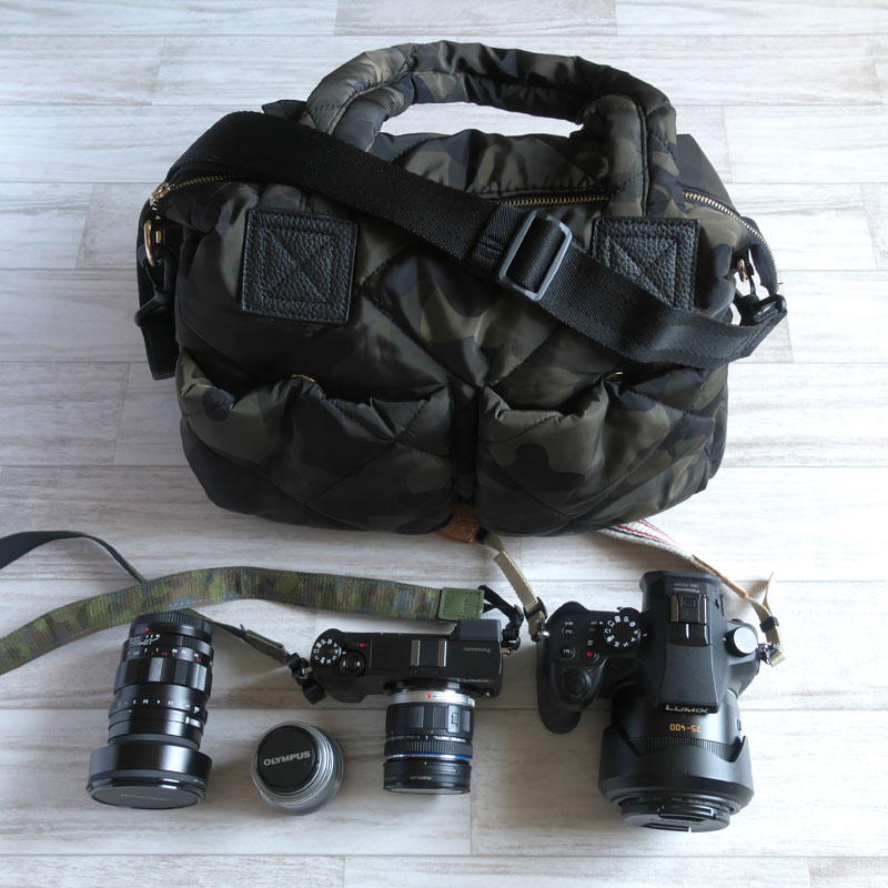 カメラバッグに使える!<br>軽くて丈夫なナイロントートバッグ