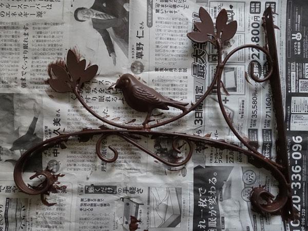 小鳥のアイアンブラケット5