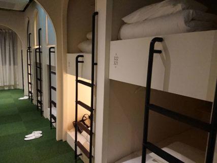 女性専用カプセルホテルというところに<br>初めて泊まってみた