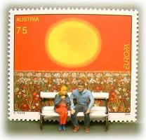 切手とPreiserフィギュア1