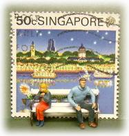 切手とPreiserフィギュア2
