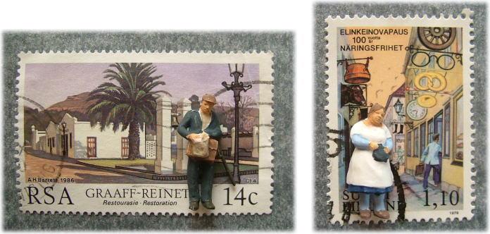 切手とPreiserフィギュア3