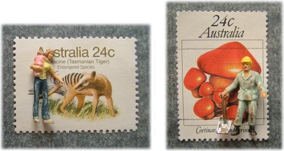 切手とPreiserフィギュア4