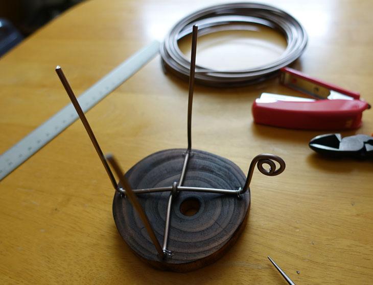 穴あき丸太の輪切りコースターで作る8
