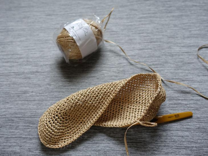 エコアンダリヤのワッフル編みバッグ3