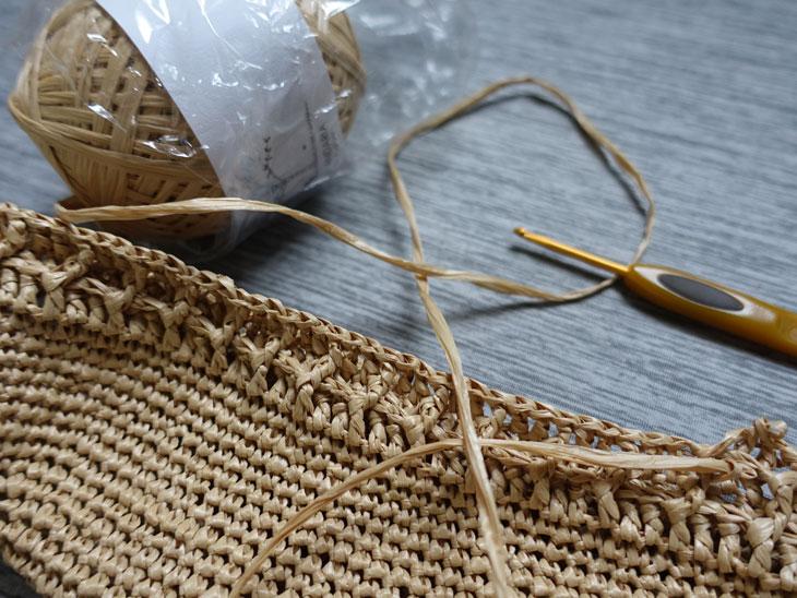 エコアンダリヤのワッフル編みバッグ4