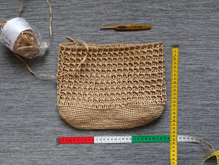 エコアンダリヤのワッフル編みバッグ5