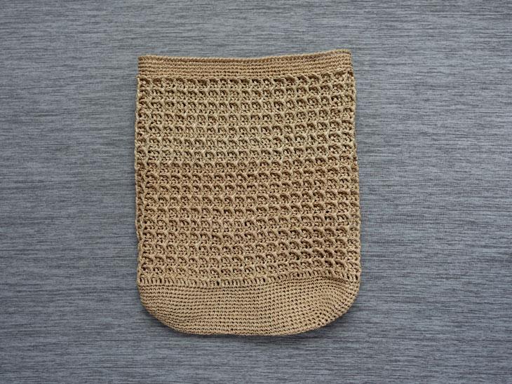 エコアンダリヤのワッフル編みバッグ7
