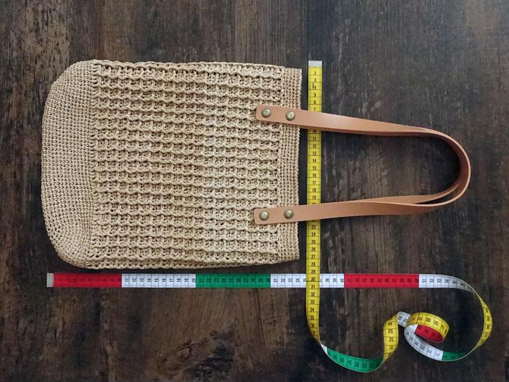 エコアンダリヤのワッフル編みバッグ11