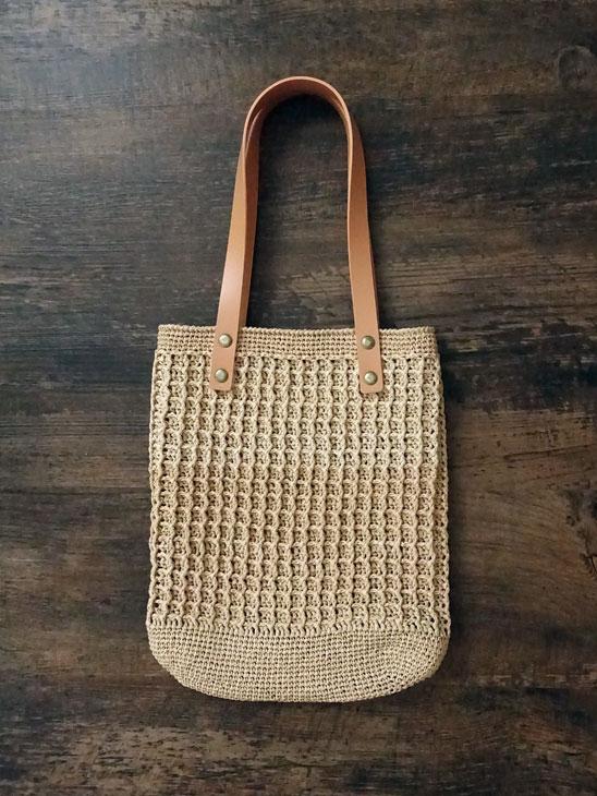 エコアンダリヤのワッフル編みバッグ10