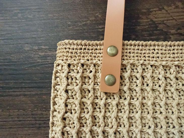 エコアンダリヤのワッフル編みバッグ1