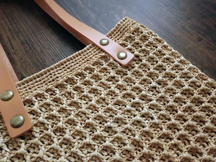 エコアンダリヤのワッフル編みバッグ13