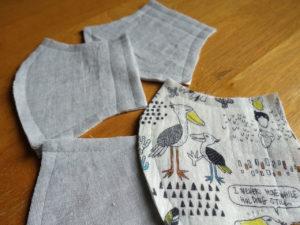 手作り布マスク3
